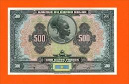 BELGIAN CONGO - 500 FRANK (R056)  REPRODUCTION - [ 5] Belgian Congo