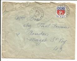 OBLITERATION SUR LETTRE DE LA FOUILLOUSE (LOIRE) DU 7/12/1966 - Marcophilie (Lettres)