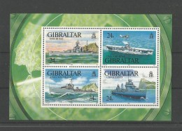 GIBRALTAR - BLOC NEUF** N° 17 - 1993 - NAVIRES DE GUERRE -  COTE 13.50 € - VOIR SCAN - Gibraltar