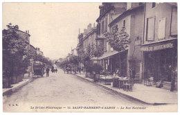 Saint Rambert D'Albon - La Rue Nationale ( Magasin Galeries Dauphinoises à Droite ) - France