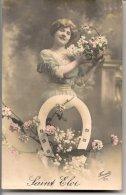 L25C124 - Fête De La St Eloi - Jeune Femme, Corbeille De Fleurs Et Fer à Cheval  - Fauvette  N°1371 - Holidays & Celebrations