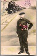 L25C126 - Fête De La St Eloi - Jeune Homme, Entée En Gare D'un Train, Locomotive - CEK N°2149 - Holidays & Celebrations