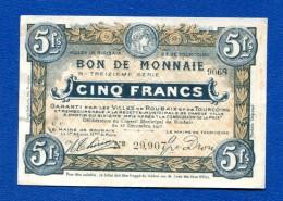 Tourcoing  5  Fr  Roubaix  Le  15/12/1917  Sup - Bons & Nécessité