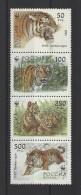 RUSSIE  Y/T 6029/6032  Neuf **  Protection De La Nature. Le Tigre De L´Oussouri  1993 - 1992-.... Fédération