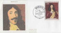 Enveloppe  FDC  1er  Jour   MONACO    Roi   LOUIS  XIII   1991 - Royalties, Royals
