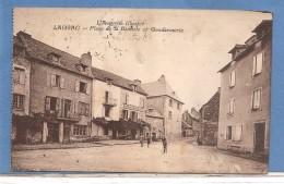 12 LAISSAC  GENDARMERIE ET PLACE DE LA BASCULE RESTAURANT   TIMBREE 1926  2 SCANS - Sin Clasificación