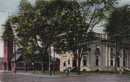 LAWRENCE, Massachusetts, PU-1909; Depot And Post Office - Lawrence