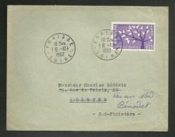 Cachet Manuel FRAISSE - LOIRE / N° 1358 Europa / 1962 - Handstempels
