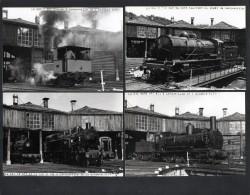 PHOTO 310 -  Série De 5 Photos 12,5 X 9 - Locomotives Dépot De LONGUEVILLE - Treinen