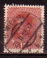 AUTRICHE - OSRERRAICH - 1917 - Perfores - Perfines - 1v Obl. Mi 221 - Perforadas