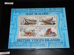British Virgin Islands - 1983 Boatbuilding Block MNH__(THB-1259) - British Virgin Islands