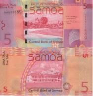 (B0385) SAMOA, 2008 (ND). 5 Tala. P-38a. UNC - Samoa