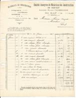 FACTURE MATERIAUX DE CONSTRUCTION DU SUD EST à GAP 1924 - 1900 – 1949