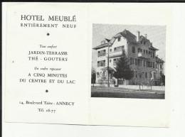 74 - Haute Savoie - Annecy - Avis De Passage - Hotel Les Abrets -14 Bd.Taine - Tél 16.77.cliché - - Cartes De Visite