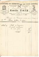 FACTURE EMILE TAIX SERRURERIE à GAP 1919 - 1900 – 1949