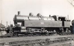PHOTO 312 -  Retirage Photo Ancienne 13,5 X 8,5 - Locomotive N° 42.005 Cie De Fives - Lille- Scan Recto - Verso - Treinen