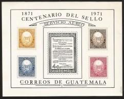 O) 1971 GUATEMALA, FIRST SEAL MAIL 1871, SOUVENIR MNH - Guatemala