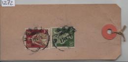 1921 Helvetia 113 + 115 - Paketanhänger - Cachet: Morges - Suisse