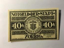 Allemagne Notgeld Zorbig 10 Pfennig 1921 NEUF - Allemagne