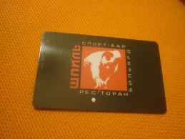 Billiard Pool Member Card From Russia (black) - Jeux