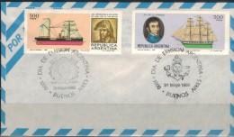 ARGENTINIEN 1980 - Luftpost Brief Mit  ET SStmp. 1438 + 1439 - Argentinien