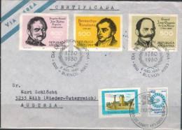 ARGENTINIEN 1980 - Luftpost Recobrief Mit  ET SStmp. MiNr: 1459-1461 + 1456+1440 - Argentinien