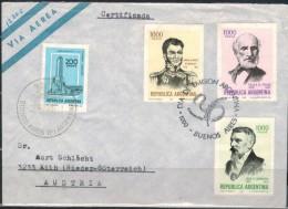 ARGENTINIEN 1981 - Luftpost Brief Mit  ET SStmp. MiNr: 1519-1521 + 1431 - Argentinien