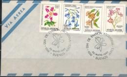 ARGENTINIEN 1982 - Luftpost Brief Mit  ET SStmp. MiNr: 1560+1562+1563+1564 - Argentinien