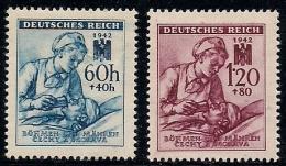 GERMANY, BOHMEN & MAREN, 1942, Hinged Unused Stamp(s) Red Cross,  MI 111-112,  #13441,  Complete - Occupation 1938-45