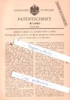 Original Patent  - Arthur Grelet Und Lucien Vives In Paris  , 1899 , Phonograph !!! - Documenti Storici