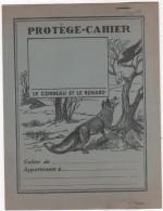 PROTÈGE-CAHIER - Ancien Avec Agrafes - Thème FABLE - Le Corbeau Et Le Renard - Illustrateur DUTE - Animaux