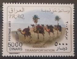 I20- Iraq 2004 Mi.1722 5000D MNH Stamp - Transportation - Camels - Irak