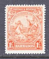 Barbados  168b  Perf 14  *    Wmk 4  1925-35 Issue - Barbados (...-1966)