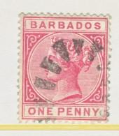 Barbados 61a  Rose   (o)  Wmk 2  1882-85 Issue - Barbados (...-1966)