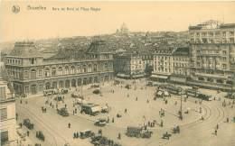 BRUXELLES - Gare Du Nord Et Plage Rogier - Transport (rail) - Stations