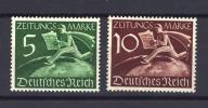 Allemagne  -  Reich  :  Mi  Z 738-39  **   Journaux - Deutschland