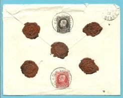 212+214 Op Brief Verzekerde Zending (ASSURE) Met Stempel BRUXELLES Naar BORDEAUX - 1921-1925 Petit Montenez