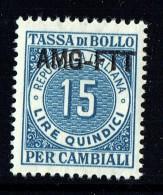 Tassa Di Bollo   Lire   15   ** Gomma Integra - 7. Triest