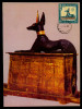 EGYPT / 1967 / MAXICARD / MAXIMUM /  GOD ANUBIS / TREASURES FROM TUTANKHAMUN'S TOMB / EGYPTOLOGY / DOG - Egypt