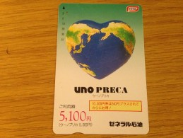 5100 Yen Card Uno Preca  - Nr. JCCK-30396382 - Earth As A Heart - - Japan