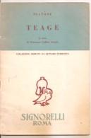 TEAGE  PLATONE - SIGNORELLI - Histoire, Biographie, Philosophie