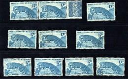 1952  Renard Argenté 17 Fr  Yv 346 10 Ex. Oblitérés - Oblitérés