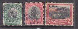 South West  Africa 1927, 1/2d, 1d, 3d, Used - Afrique Du Sud-Ouest (1923-1990)