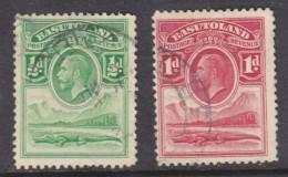 Basutoland: 1933, George V,, 1/2d, 1d, Crocodile,  Used - Basutoland (1933-1966)