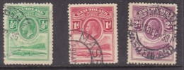 Basutoland: 1933, George V,, 1/2d, 1d, 2dcrocodile,  Used - Basutoland (1933-1966)