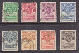 Basutoland: 1933, George V,, 1/2d - 2/6 Crocodile,  Used - Basutoland (1933-1966)