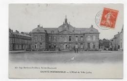 (RECTO / VERSO) STE MENEHOULD EN 1912 - L´ HOTEL DE VILLE - BEAU CACHET - CPA - Sainte-Menehould