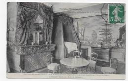 (RECTO / VERSO) STE MENEHOULD EN 1910 - CHAMBRE DE LA FAMILLE ROYALE - CACHET AMBULANT TRI FERROVIAIRE - CPA - Sainte-Menehould