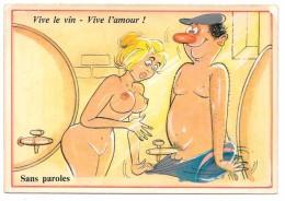 Humour Vin Et Sexe - Vive Le Vin - Vive L´amour - Sans Paroles - Ed. Abeille Cartes Ref 935/4 - Humor