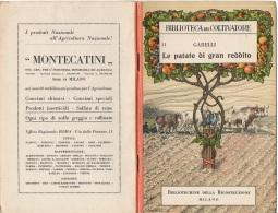 """06107 """"A. GARELLI - LE PATATE DI GRAN REDDITO - CASA EDITRICE FRATELLI OTTAVI CASALE MONFERRATO - 1920"""" ORIGINALE - Altri"""
